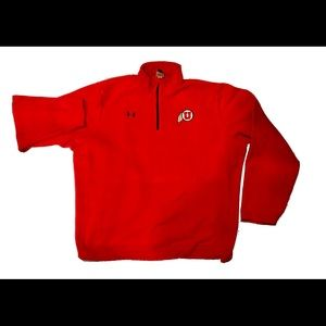 Utah Utes Under Armour Fleece Jacket Large Cotton